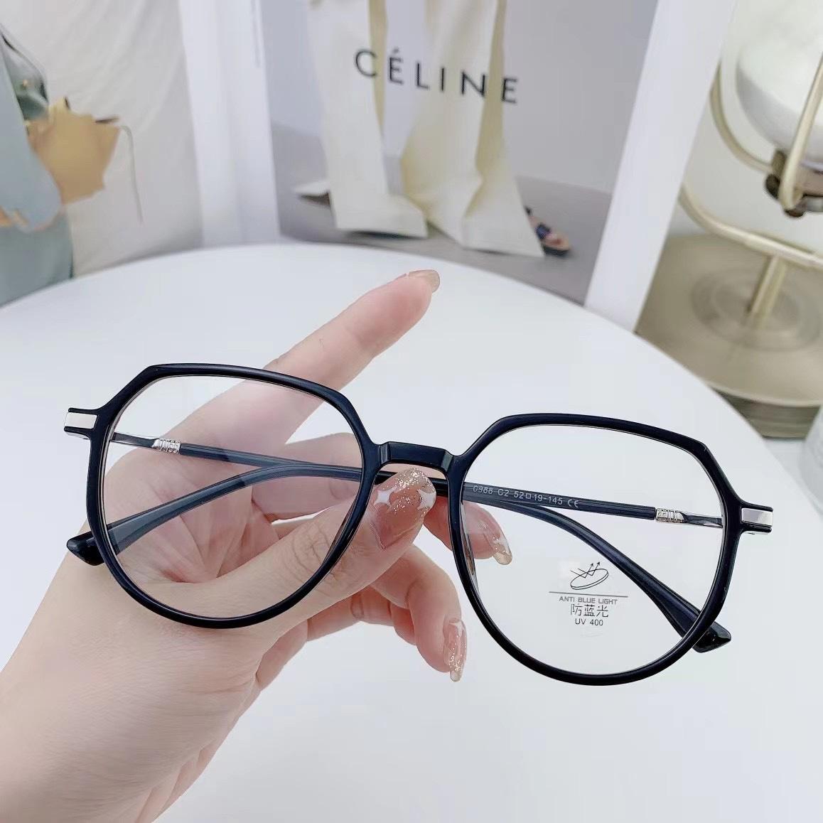 0988 防蓝光抗辐射眼镜近视女可配有度数黑框平光护眼睛男韩版潮流素颜