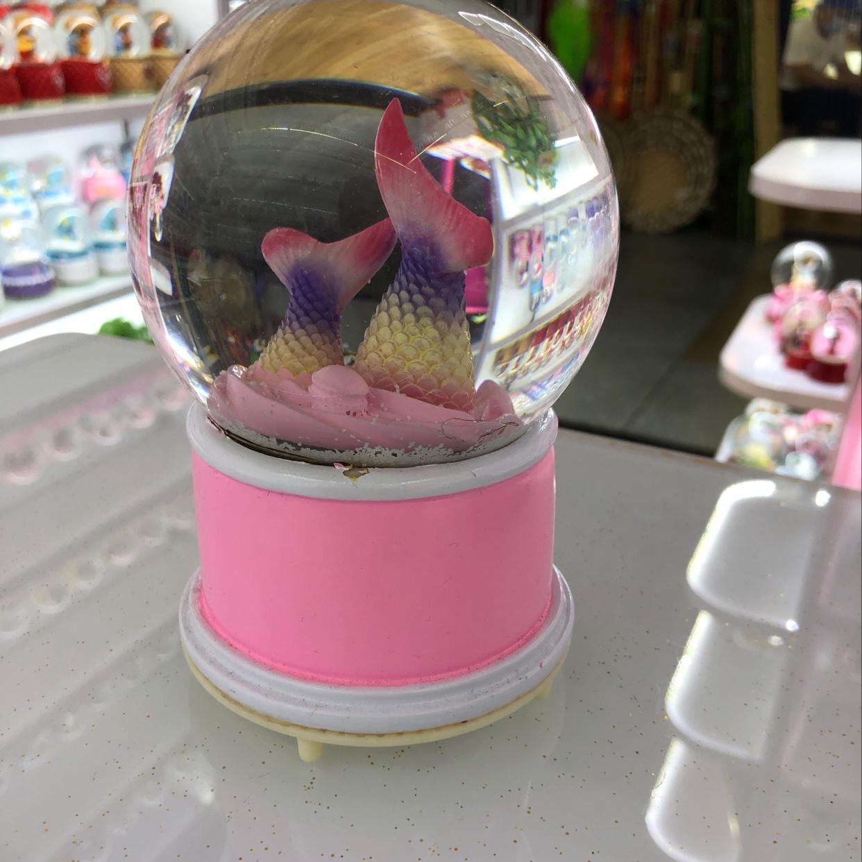 美人鱼🧜🏻♀️尾巴水晶球🔮带灯光音乐