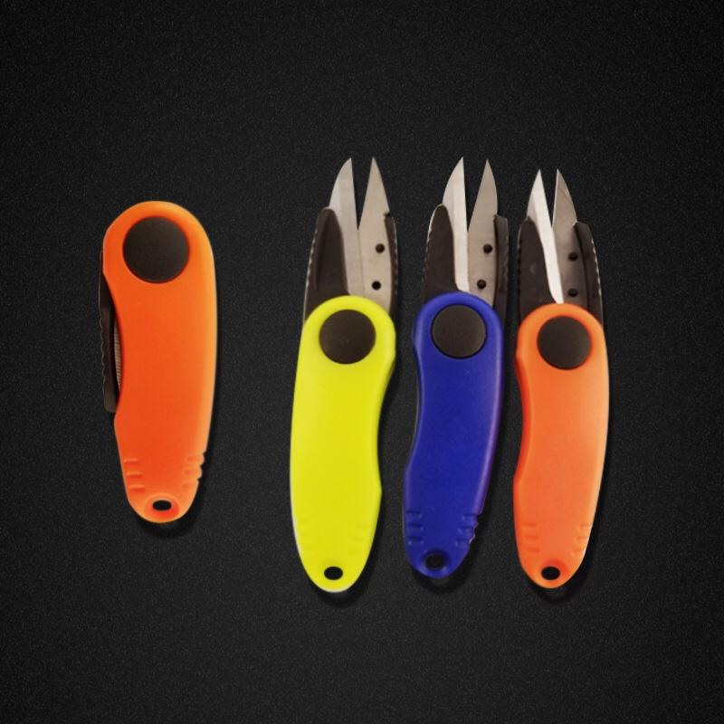 歪嘴剪刀 不锈钢 大力马鱼线剪刀 折叠剪刀 渔具配件