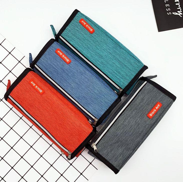义乌好货 纯色大容量文具袋 创意拉链铅笔袋文具盒