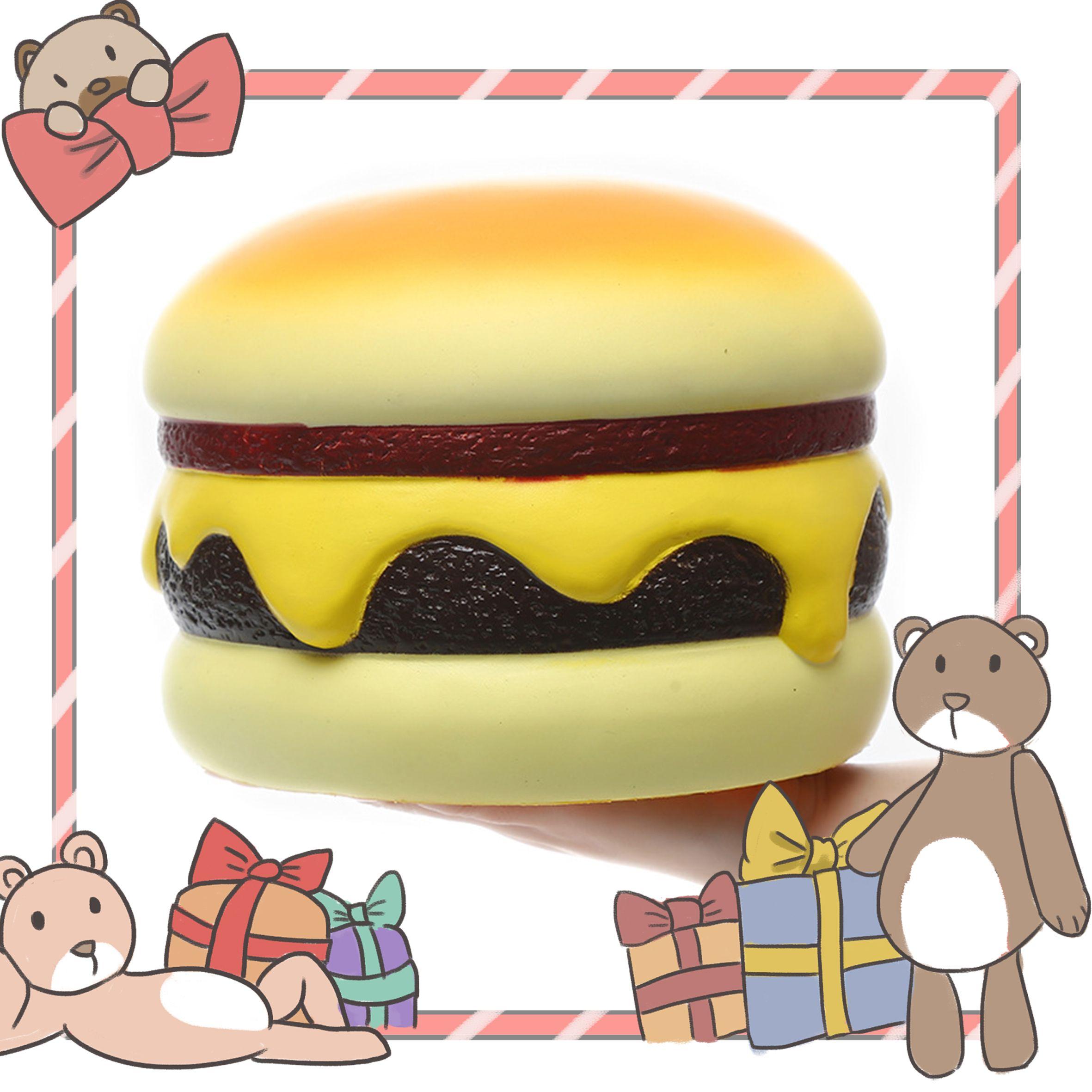squishy 解压玩具 慢回弹汉堡 好玩不上火