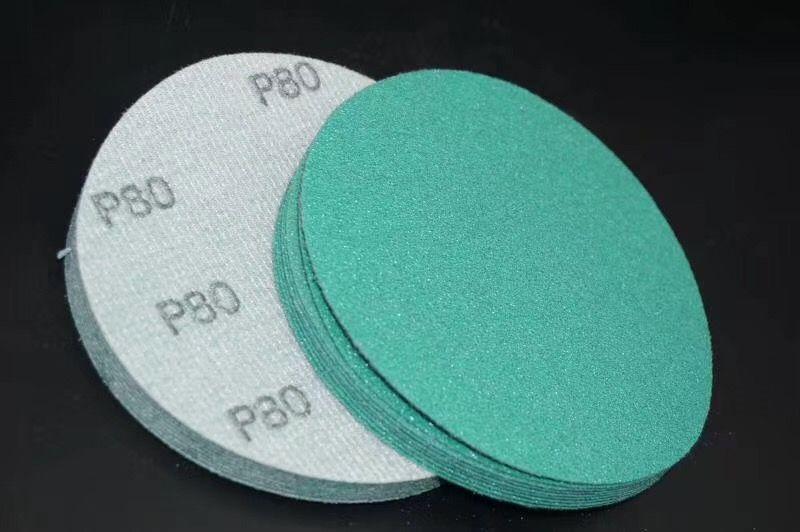 工厂直销 植绒砂纸片 粘片 绿砂 125-P60-P400