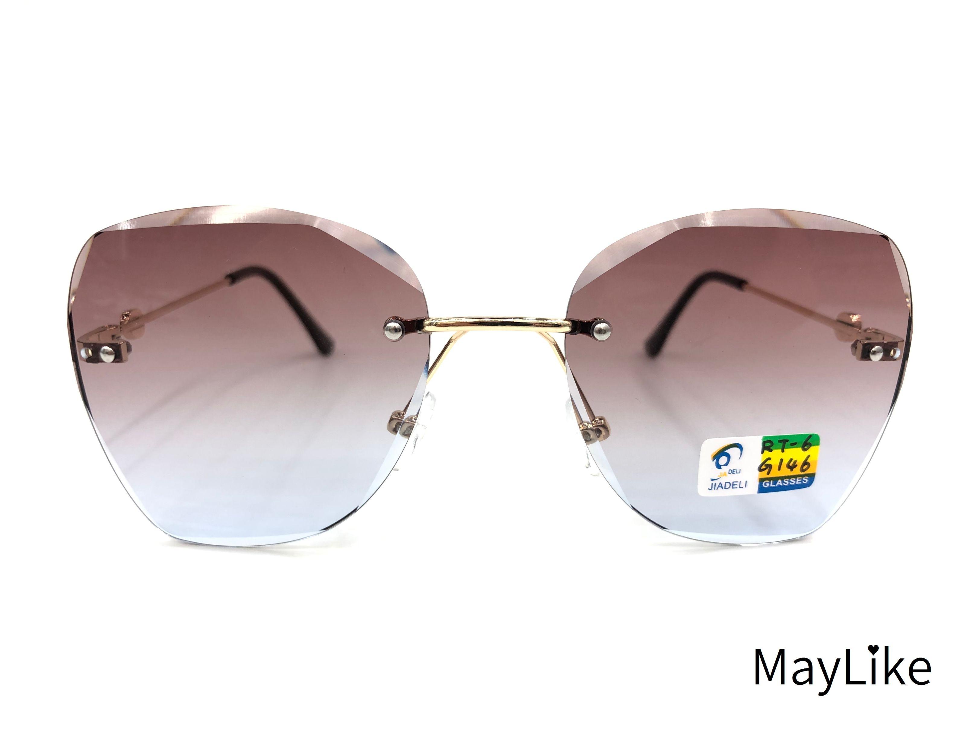 22837-RT6 儿童钻石切边 无框海洋片 UV400 太阳镜 批发