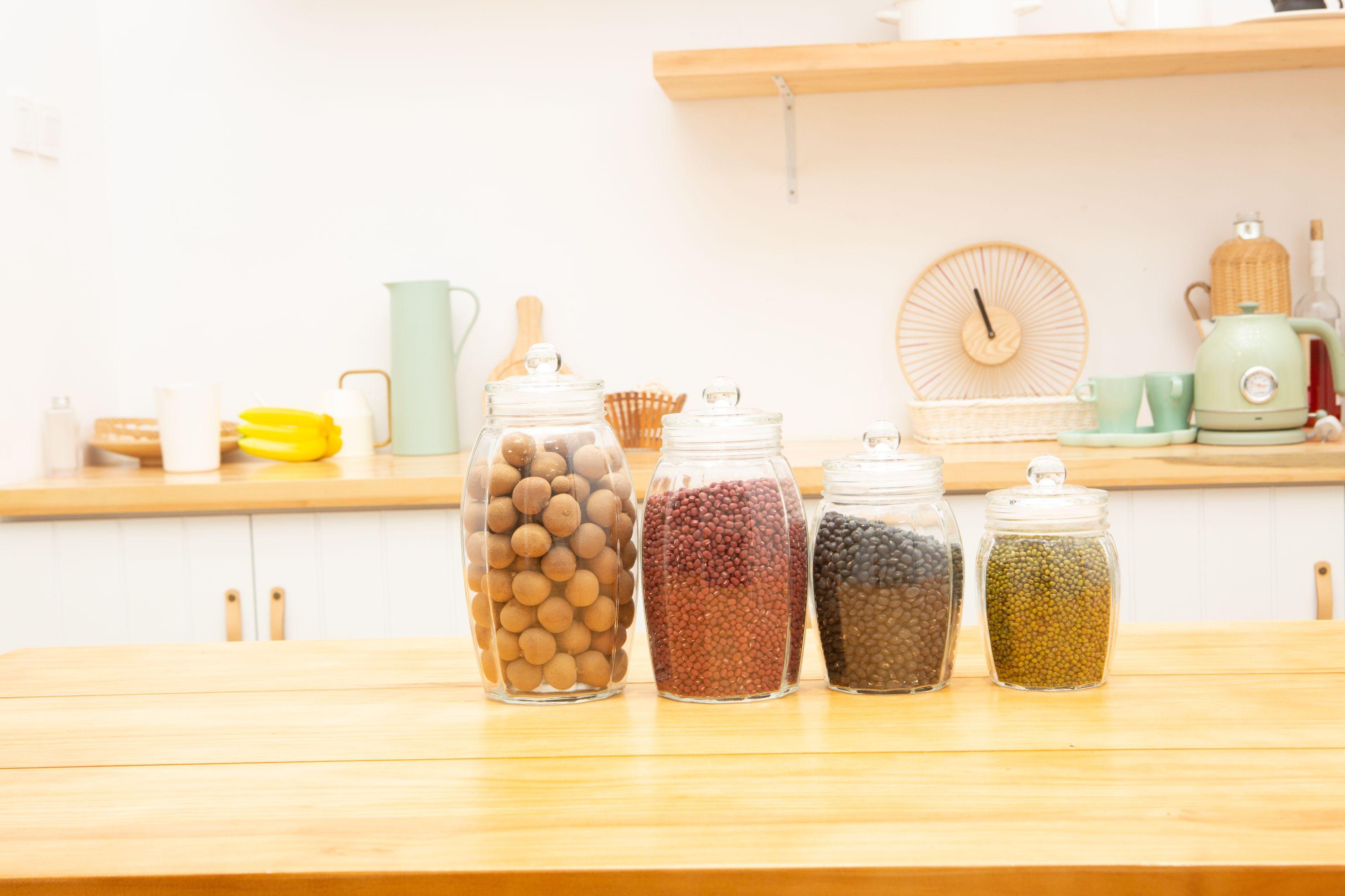 玻璃瓶密封罐食品储物罐带盖茶叶咖啡豆收纳瓶