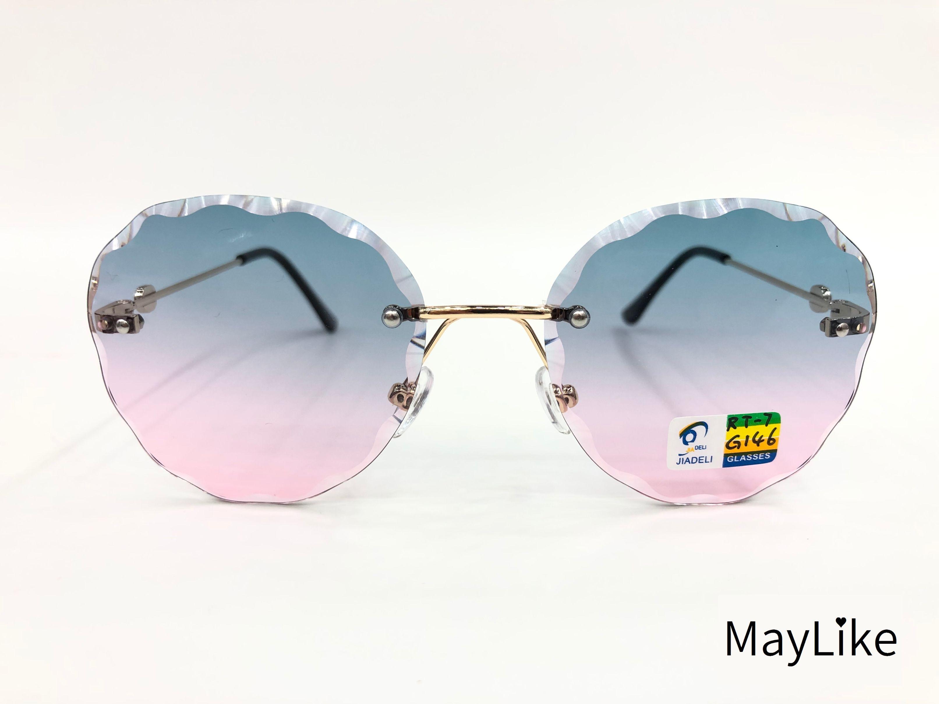 22837-RT7 儿童钻石切边 无框海洋片 UV400 太阳镜 批发