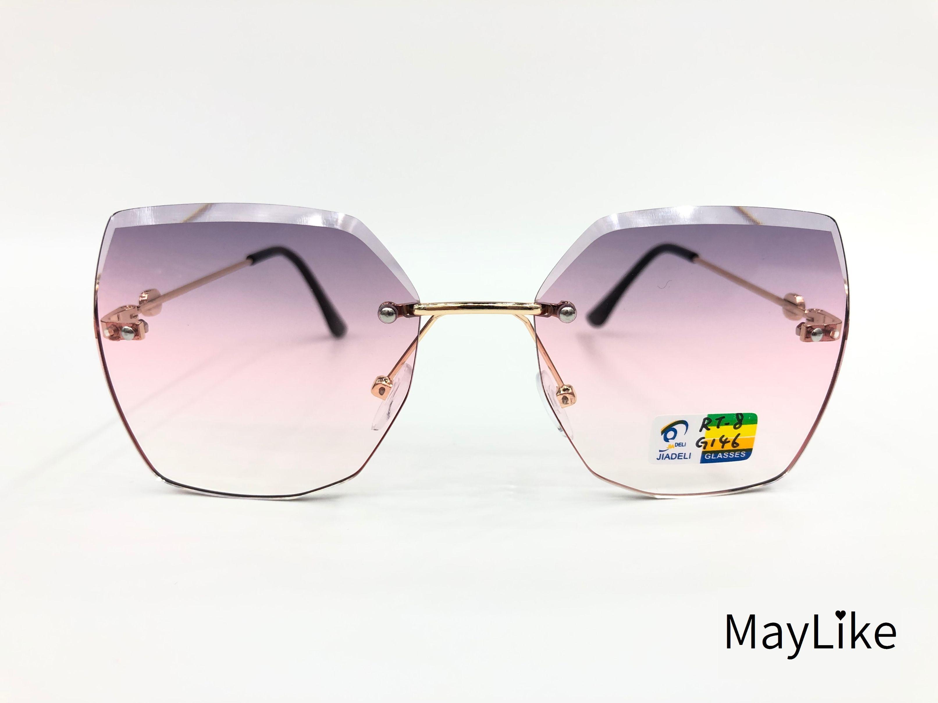 22837-RT8 儿童钻石切边 无框海洋片 UV400 太阳镜 批发