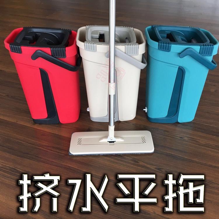 刮刮乐拖把家用一拖净拖布拖地神器懒人免手洗平板拖墩布干湿两用