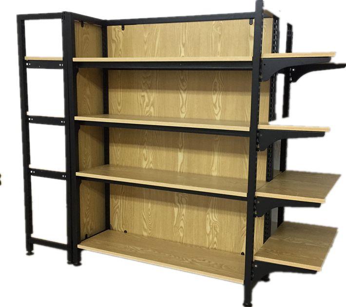新款畅销钢木货架 母婴店货架  精品店钢木货架 现货货架