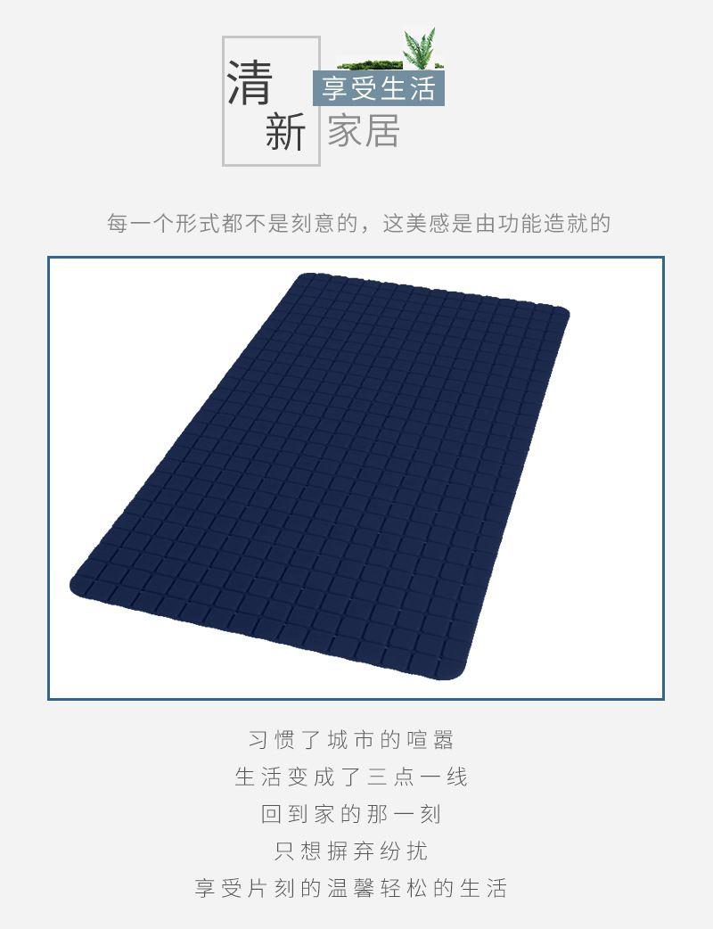 方格PVC防滑垫厨房地垫吸水防油地毯脚垫门垫进门防滑垫子地垫
