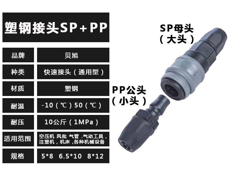 塑钢气动快速接头 气元件通用 SP PP SH PH SF PF SM PM
