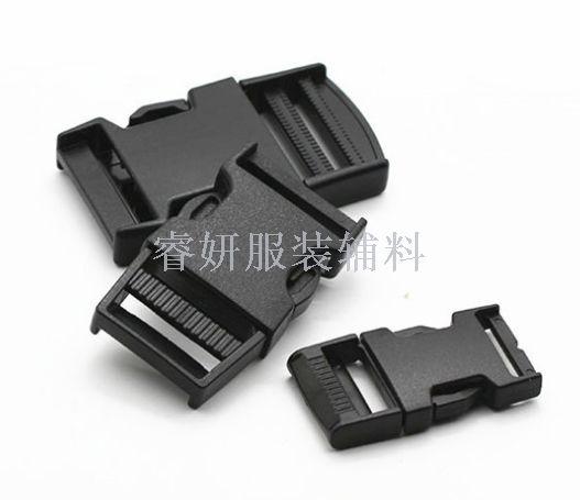 直销塑料插扣安全卡扣背包扣捆扎带扣箱包配件环保黑色内径2-5cm