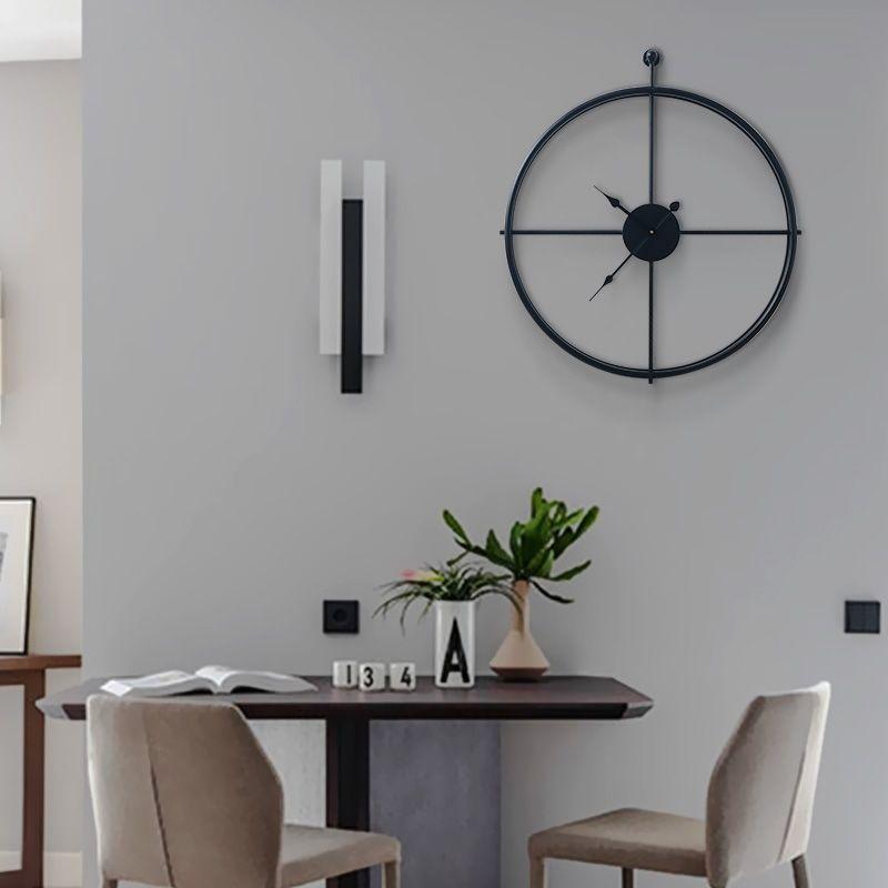 现代铁艺客厅家用挂钟轻奢挂钟艺术金属壁饰北欧装饰品19XS316-6