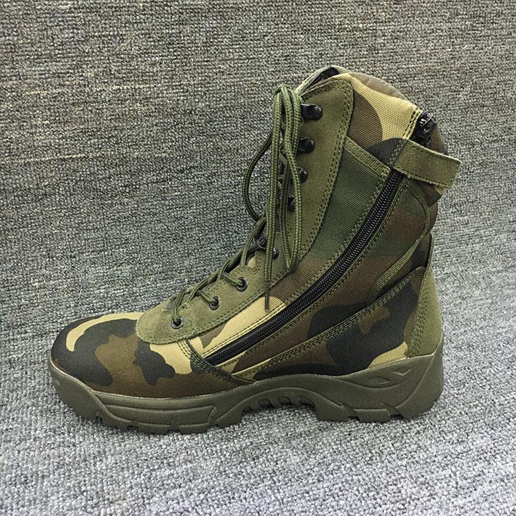 美军迷彩枫叶作战靴高帮军靴特种兵户外鞋男式战术靴厂家直销批发