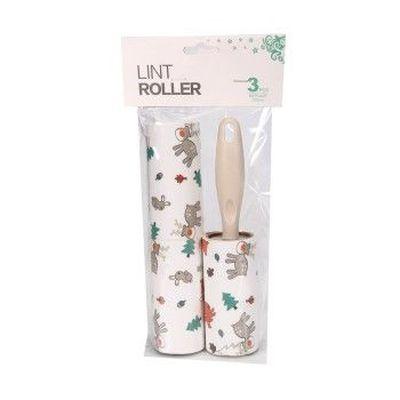 卡通动物粘毛器创意滚筒粘尘器 可撕式粘尘纸少女心去毛器毛衣