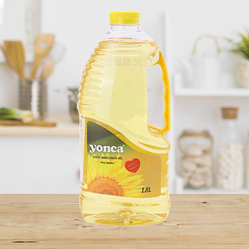 进口葵花籽油非转基因一级压榨健康食用油家用烧烤小瓶装1.8L