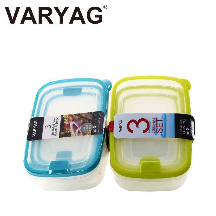 义乌好货 新款3件套保鲜盒可微波炉环保饭盒创意收纳盒瓦良格
