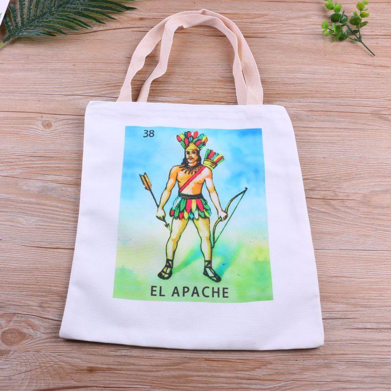 厂家直销墨西哥卡牌帆布包学生袋手提帆布包定制创意棉布购物袋