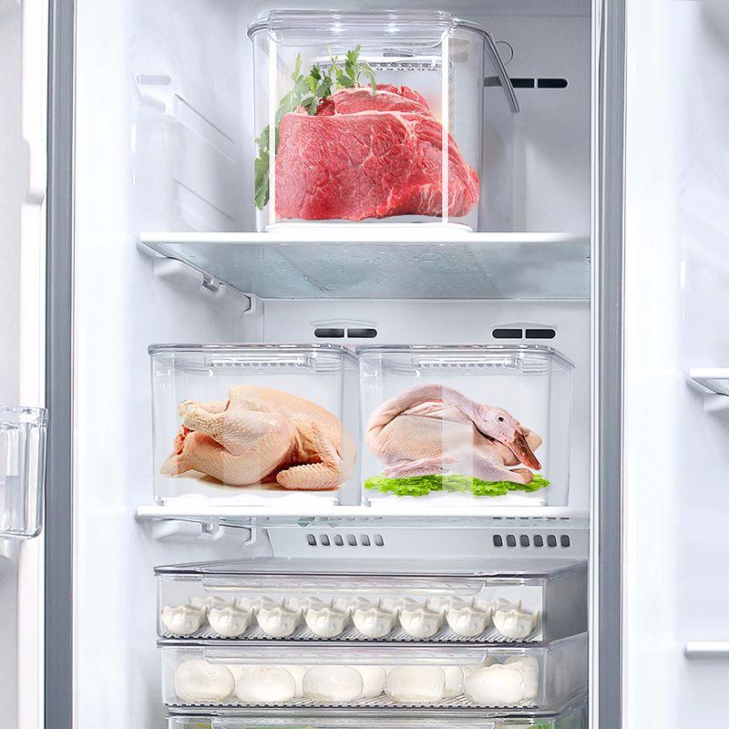 艾美诺 水果蔬菜保鲜沥水带盖塑料食品储物盒厨房冰箱收纳盒批发