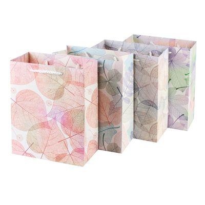 现货小清新树叶礼品袋通用创意白卡纸手提袋礼物袋批发可定制