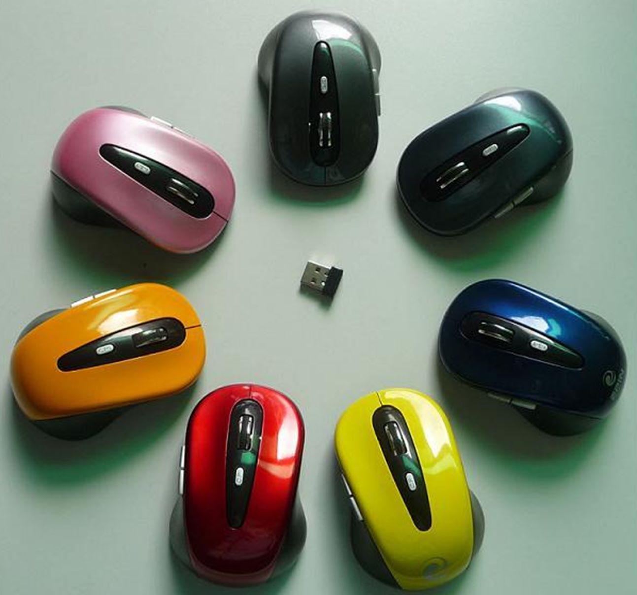 义乌好货 USB无线光电台式笔记本游戏鼠标多色