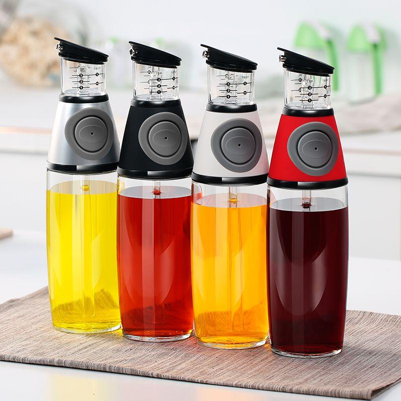 艾美诺 定量油壶家用食用油限量计量控油瓶防漏玻璃调料瓶