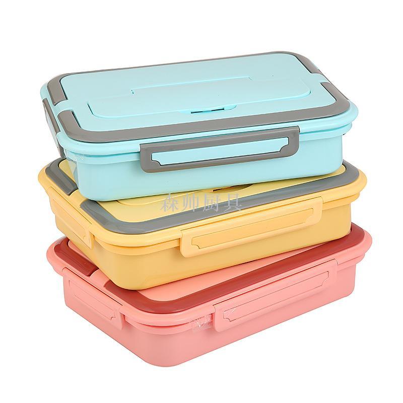 义乌好货 304不锈钢饭盒 餐盒 保鲜盒餐盘 便当盒 快餐盘
