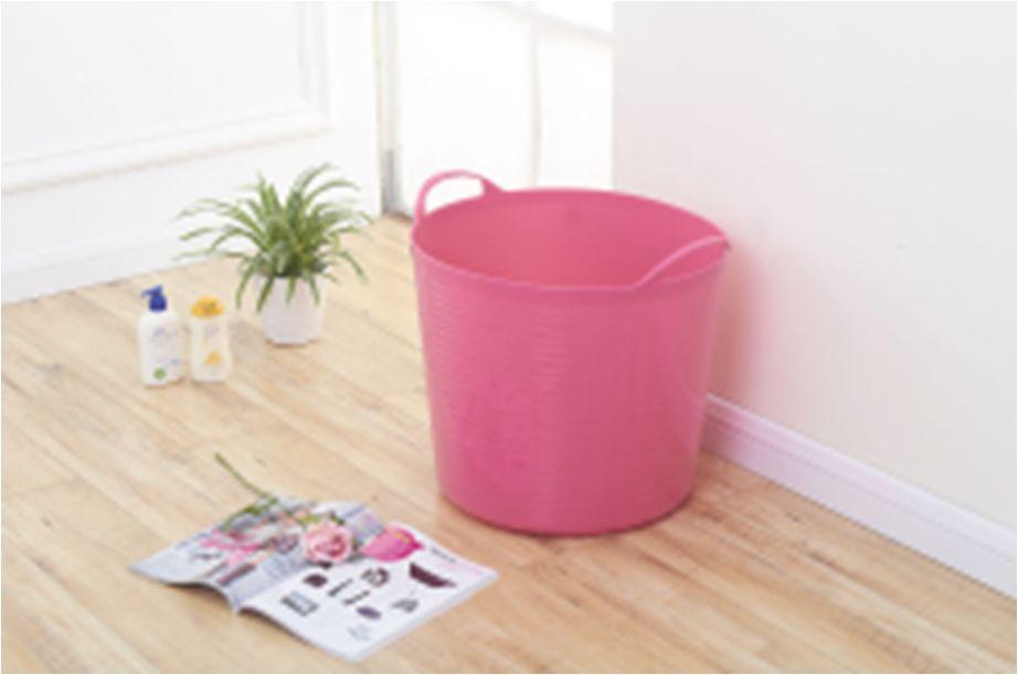 义乌好货 日用百货塑料制品 小号浴桶 277-030 圆形带手柄提手 排水口 儿童洗澡 玩具桶 脏衣桶