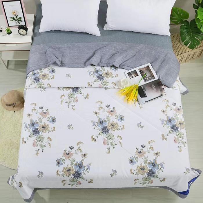 ☘️20年春夏新品☘️ 🍓全棉宽幅夏凉被 🍭尺寸200×230 🍭面料:100%棉 🍭填充:羽丝棉。😊