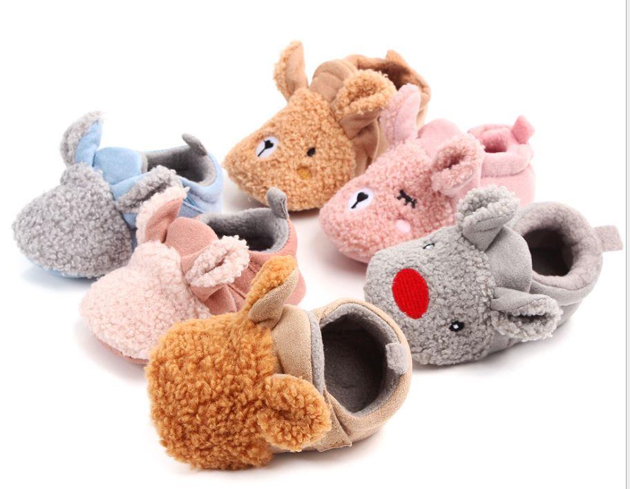 婴儿棉鞋冬季可爱宝宝保暖防滑学步鞋泰迪不掉鞋批发家居鞋