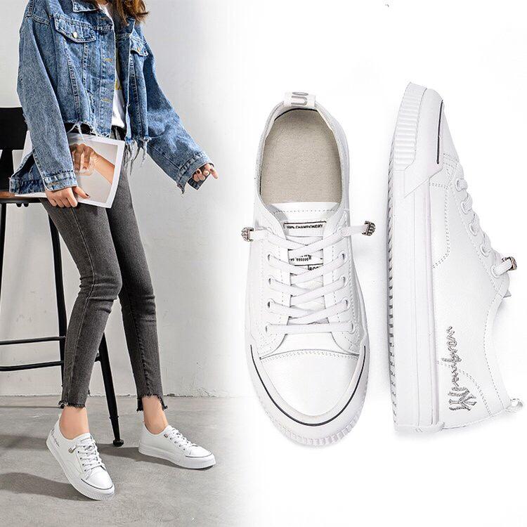 真皮百搭松紧带小白鞋女鞋35-39 超细纤维 白色 尚空间&120013价格:¥115