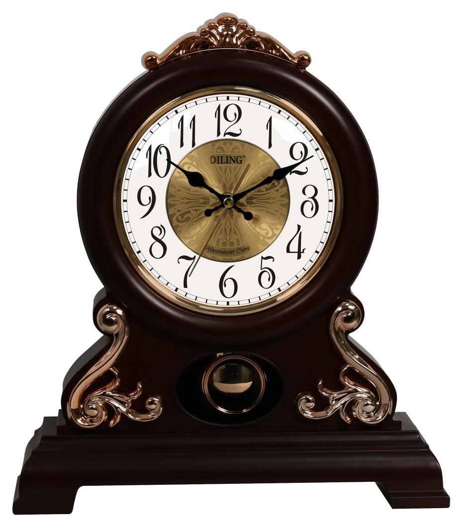 中高档迪翎挂钟壁钟座钟仿古方形圆形静音扫秒客厅卧室摆钟5172
