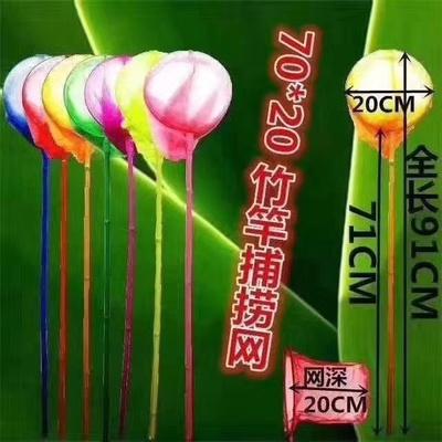70×20捞鱼网扑鱼网蜻蜓网蝴蝶网昆虫网
