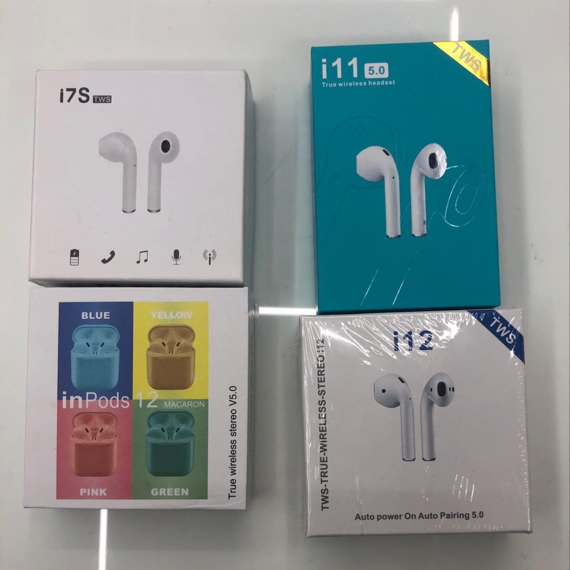 爱虎耳机 蓝牙耳机 无线便携式蓝牙耳机 i12 i11 马卡龙