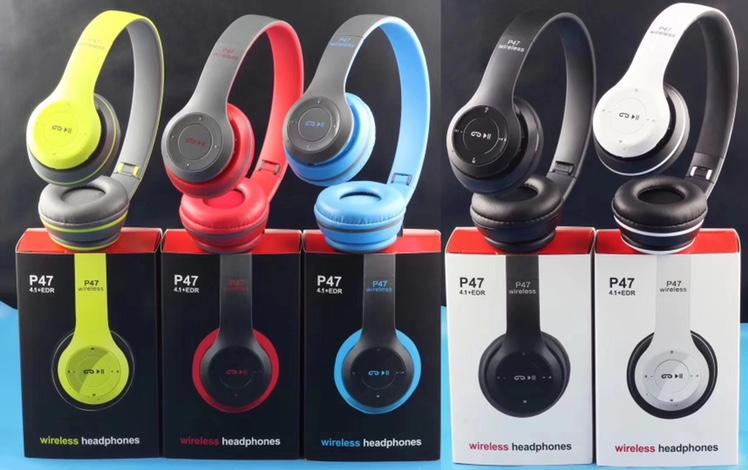 爆款立体声P系列运动头戴式蓝牙耳机 P47无线游戏耳机 厂家直销