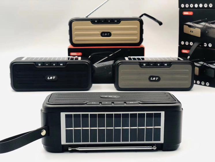 L8T 外置天线蓝牙音响 太阳能板充电蓝牙音箱