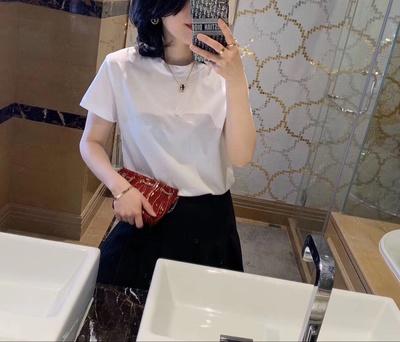 桑蚕丝丝光棉T恤