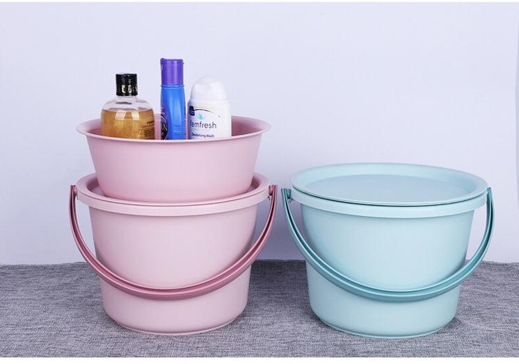 家用盆桶组合套装三件套手提桶学生脸盆水桶套