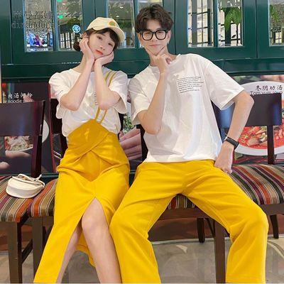 T恤P35 女半裙P65 男裤P50 情侣装夏装半身裙女套装男套装