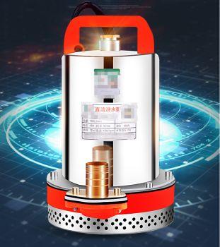 不锈钢直流潜水泵12V48V60V高扬程电动车电瓶车农用灌溉抽水机