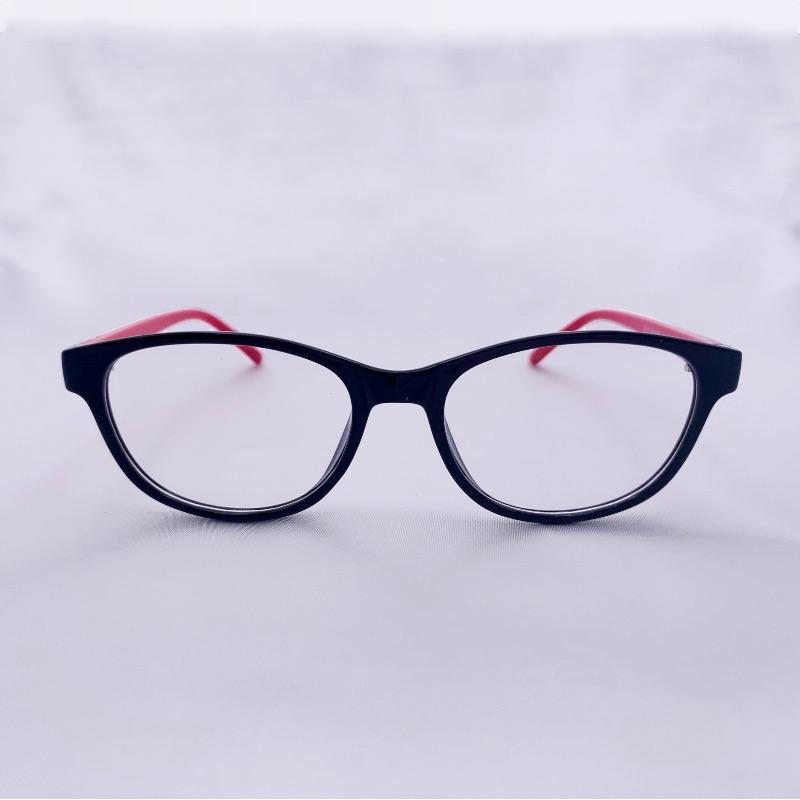 儿童眼镜小框彩色双色框脚分色多色可选脚上爱心