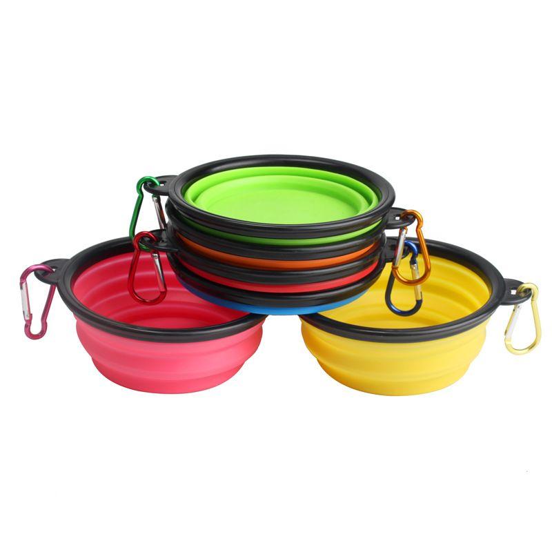 宠物碗折叠狗狗外出食盆硅胶户外折叠喝水水壶美国狗碗水碗用品