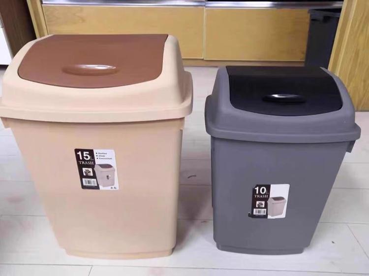 家用翻盖式垃圾桶旋转压盖客厅厨房卧室卫生间垃圾桶