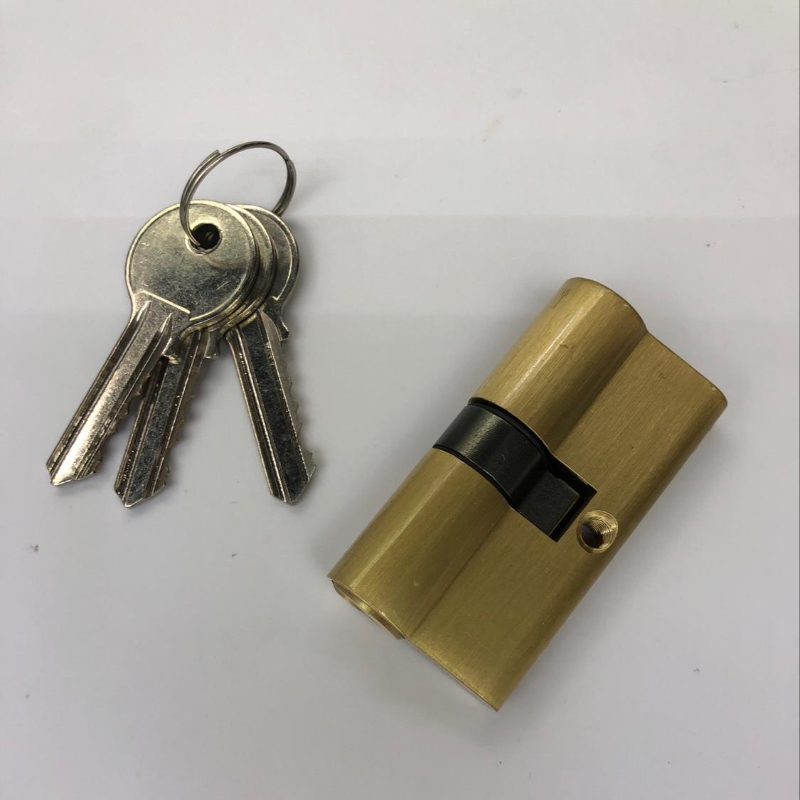 60锁芯通用型锁心执手锁卧室木门室内房间门家用铜房门配件门锁