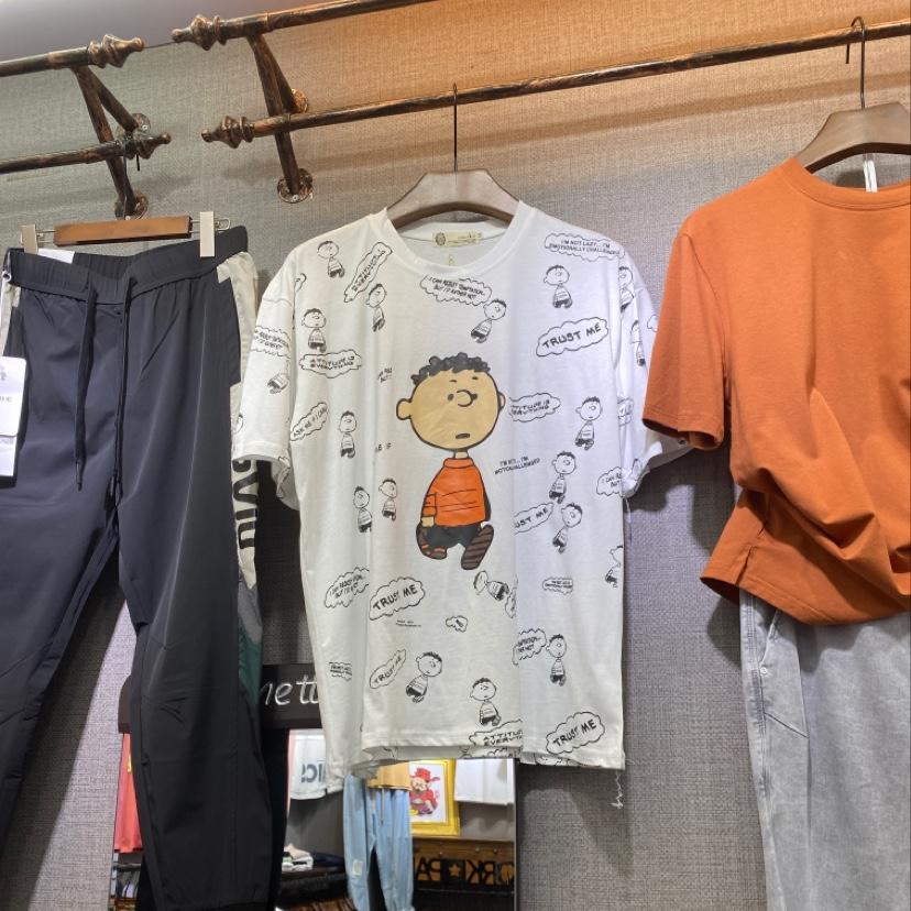 短袖T恤夏季潮男装纯棉修身立领2020年新款