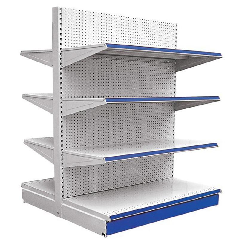 超市货架 来样定做 单面 双面 冲孔背板货架 洞洞板货架 挂钩货架