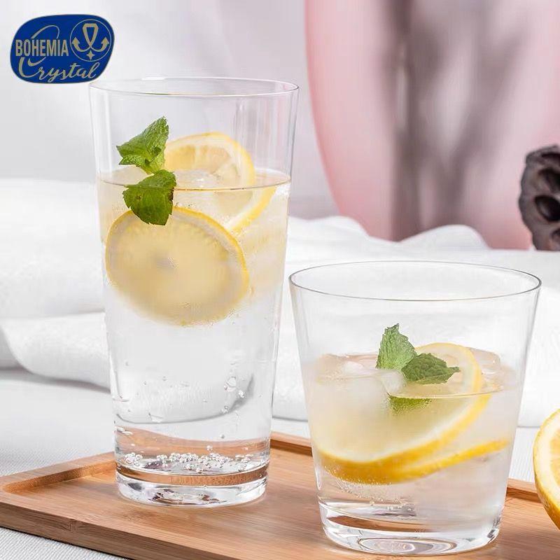 捷克进口无铅水晶玻璃杯水杯家用Crytalex饮料杯啤酒杯400