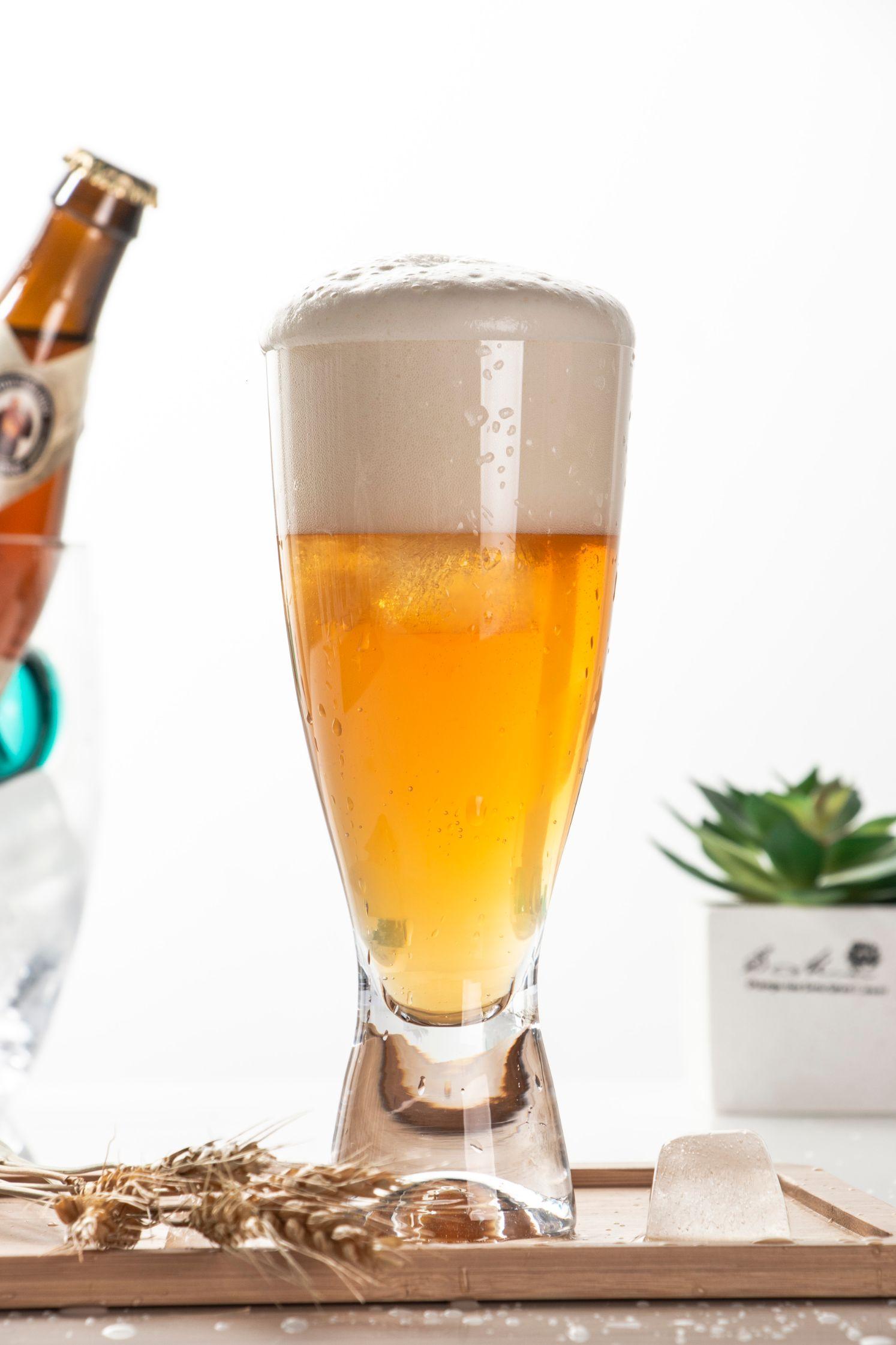 莱克斯(Crystalex)捷克进口无铅水晶啤酒杯森吧系列40427/350