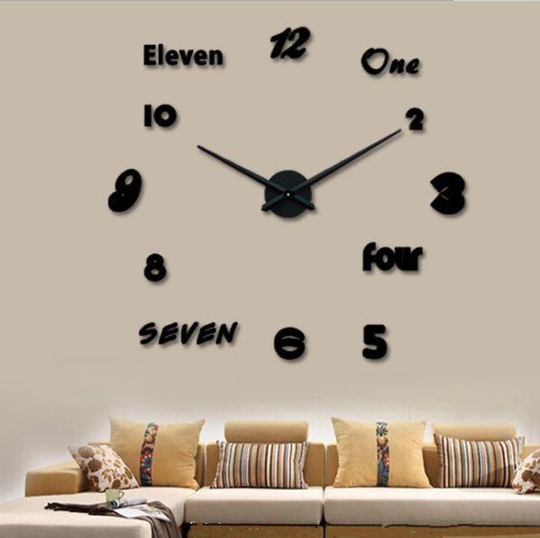 义乌好货 简约DIY挂钟客厅时尚艺术挂表创意时钟墙贴英文