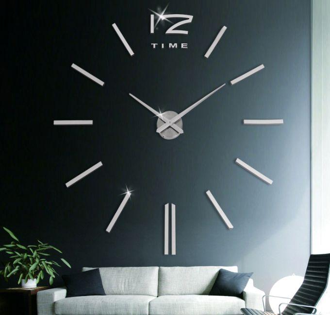 义乌好货 超大尺寸简约创意挂钟个性挂钟 客厅创意钟黑色墙贴钟