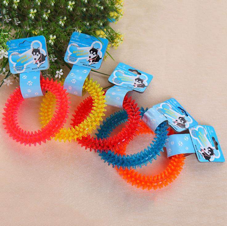 厂家直销宠物玩具透明小刺圈幼犬磨牙啃咬 刺环圆圈 外贸爆款批发